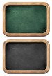 chalkboards or blackboards set isolated on white with clipping p