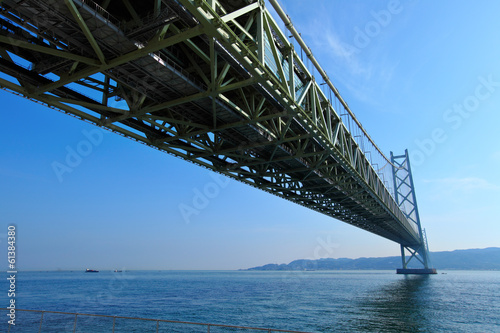 View under the Akashi Kaikyo bridge