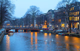 Amsterdam in the evening.