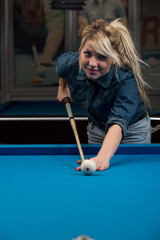 Female Pool Player