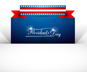 Vector background for United States of America in President Day