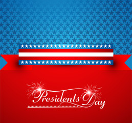 President Day in United States of America colorful background an