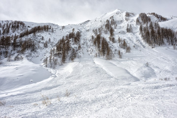 avalanche in alps