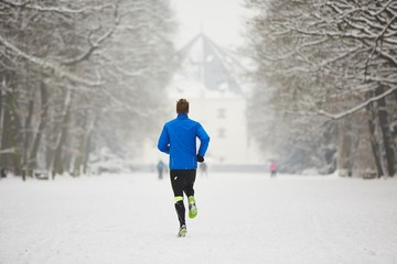 Winter jogging