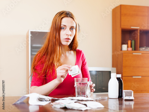 Woman brewing herbal tea