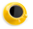 Coffee in an yellow cup