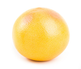 fresh grapefruit on white background