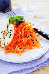 fresh carrot salad