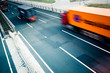 Fototapeta Autostrada - Ruchu - Ciężarówka