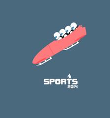 GIH0449 겨울 스포츠 플랫 봅슬레이