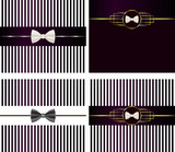 striped backgrounds with  bow tie