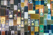 Głośniki Muzyka na ścianie w stylu retro vintage