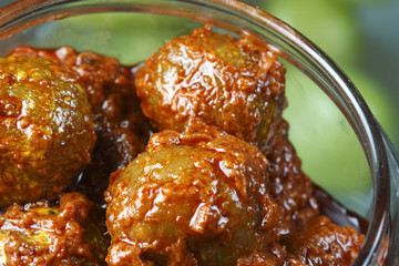Amla Pickle - A popular Indian pickle containing Amla the Indian