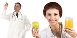 Doctors.Healthy Food.Diet and Nutrition.Health Care poster