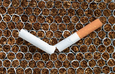 Cigarette close up.