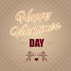 Typographical banner Happy Valentine's Day