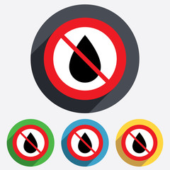 Do not wet. Water drop sign icon. Tear symbol.