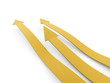 Yellow three business concept arrows