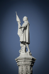 Monument Colon. Statue. Christopher Columbus (Cristobal Colon in