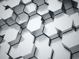 Abstract hexagonal tubes background