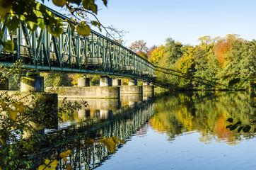 Bruecke ueber die Ruhr, Essen, Deutschland