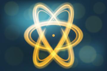Single atom illustration