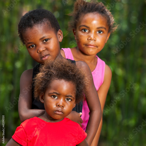 Portrait of african kids outdoors.