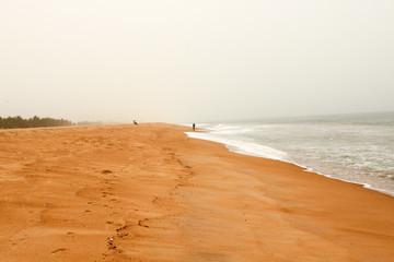 トーゴ共和国の海岸線