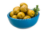 Green gigant olives
