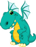 Funny dragon cartoon