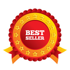 Best seller sign icon. Best seller award symbol