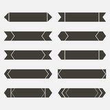 flat arrow set brown