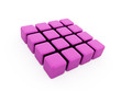 Pink abstract cubes background