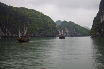 Boats in Halong Bay, Vietnam