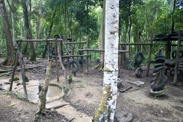 Playground for bears, Laos