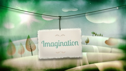 Imagination, vintage children illustration