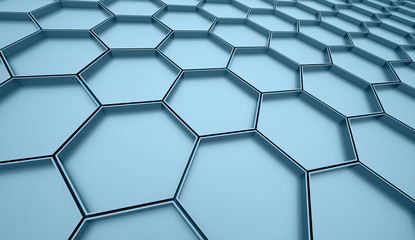 Blue hexagonal cell