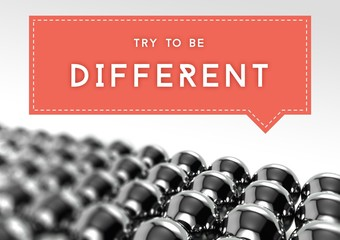 Try to be different business individuality concept