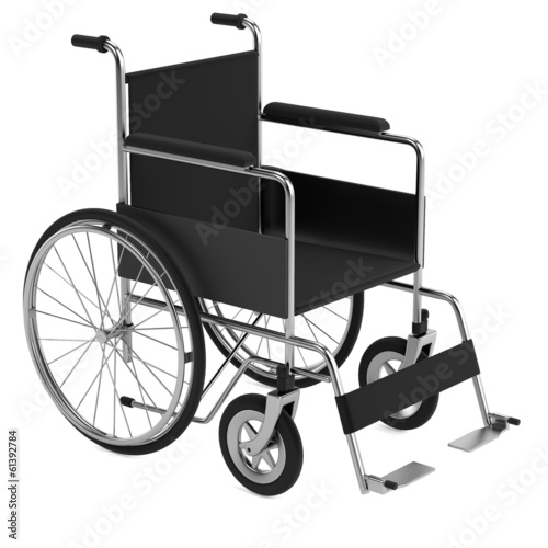 realistic 3d render of wheelchair