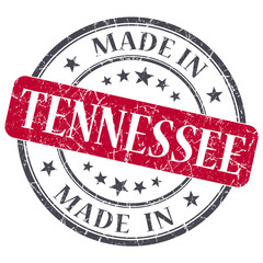 made in Tennessee red round grunge isolated stamp