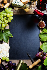 Wine and grape background