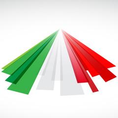 Logo astratto tricolore bandiera italiana
