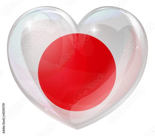 Japan flag love heart
