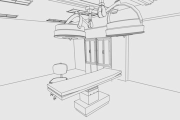 cartoon image of surgery room