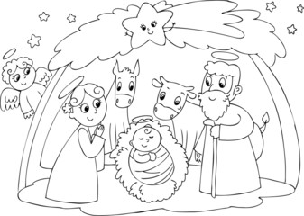 Nativity: Mary Joseph and Jesus
