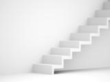 Stairs business concept rendered