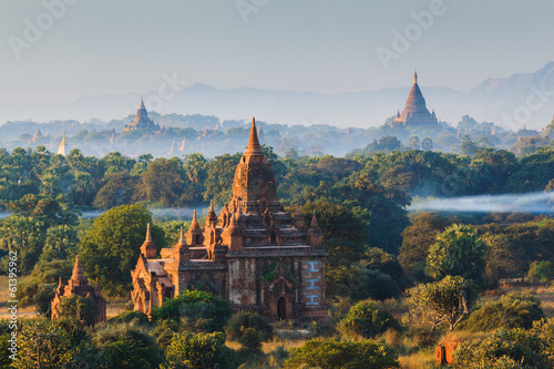 The Temples of bagan at sunrise, Bagan, Myanmar