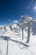 ski lift chairs in the mountains