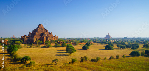 Dhammayangyi temple at sunrise, The biggest Temple in Bagan, Mya