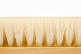 wooden brush isolated on white